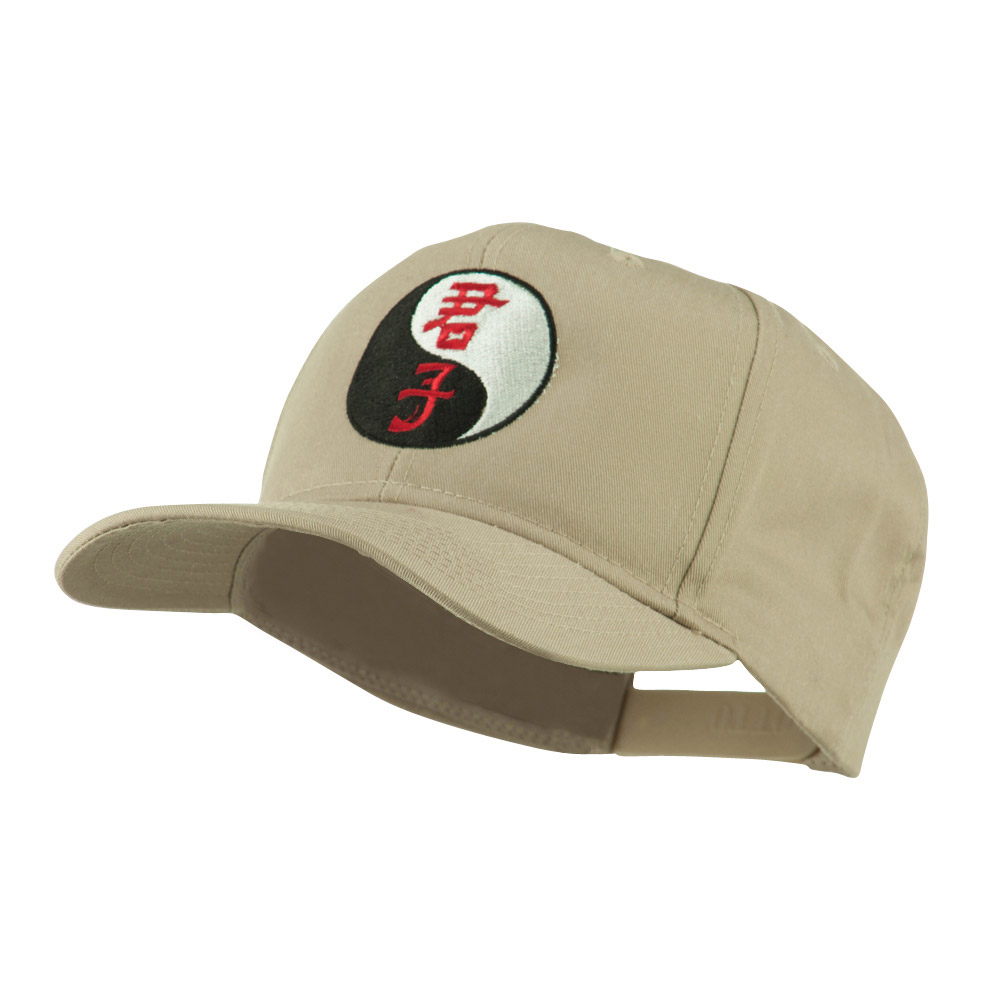 Ying and Yang Symbol Chinese Embroidered Cap - Khaki - Hats and Caps Online Shop - Hip Head Gear