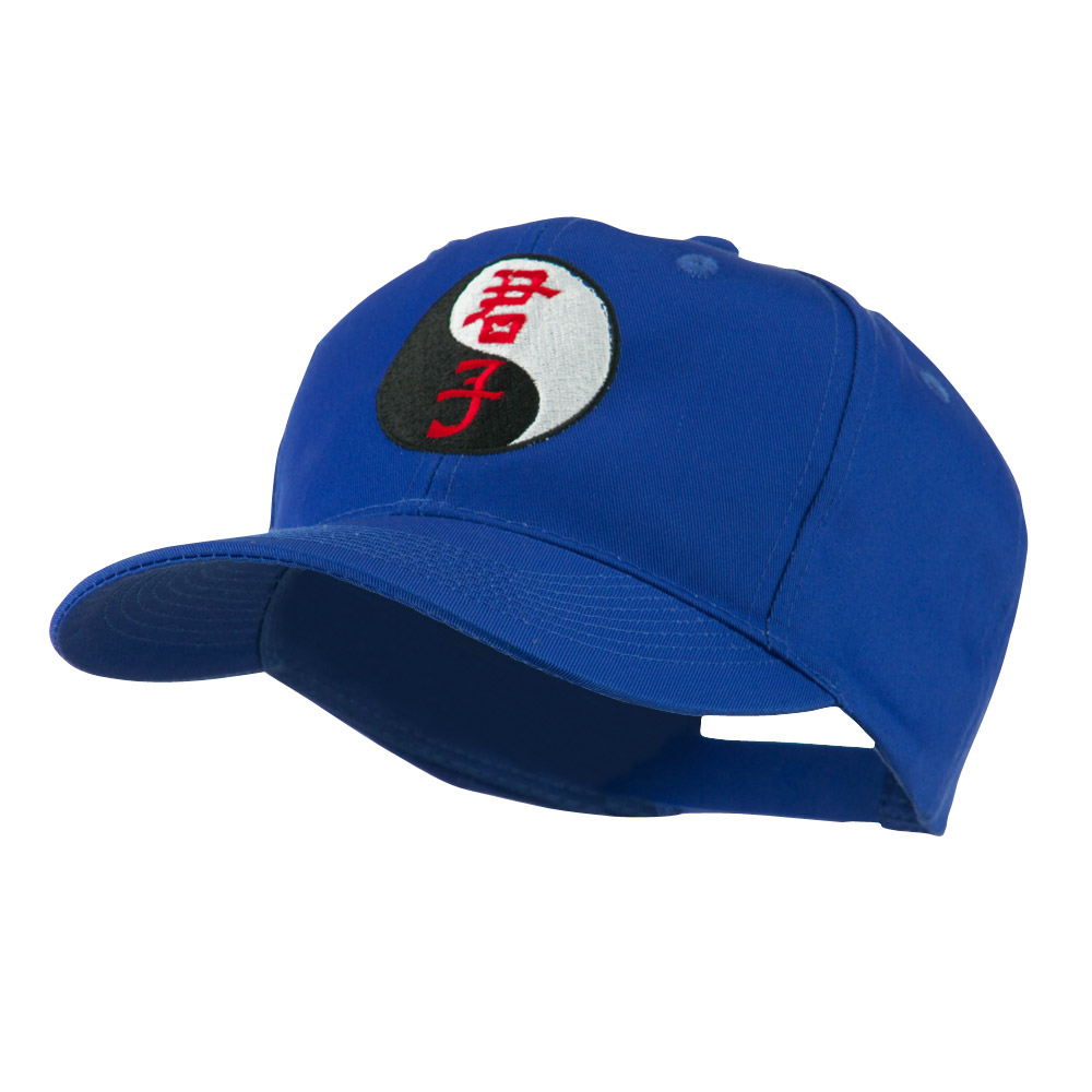Ying and Yang Symbol Chinese Embroidered Cap - Royal