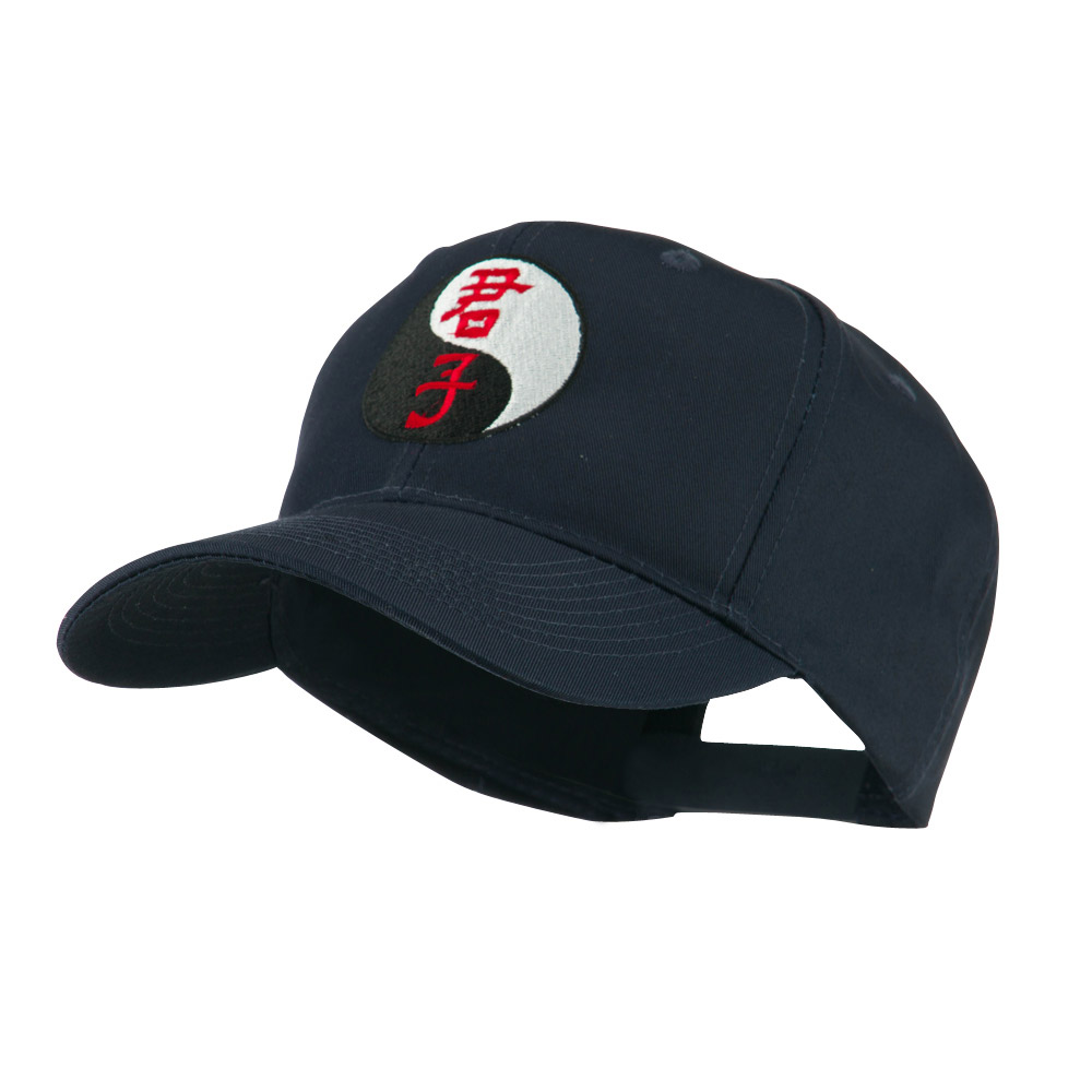 Ying and Yang Symbol Chinese Embroidered Cap - Navy - Hats and Caps Online Shop - Hip Head Gear