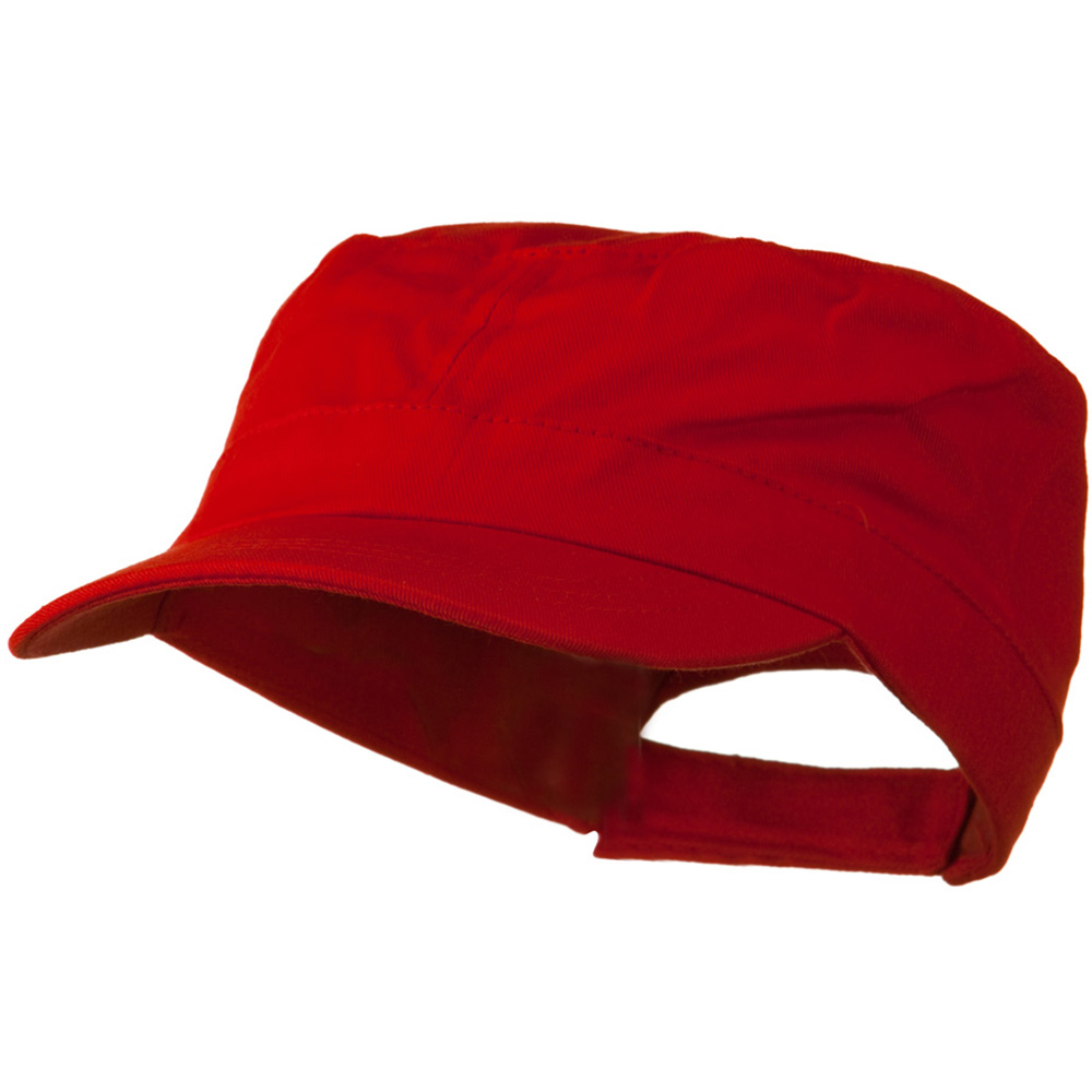 Youth Twill Army Cap - Red - Hats and Caps Online Shop - Hip Head Gear