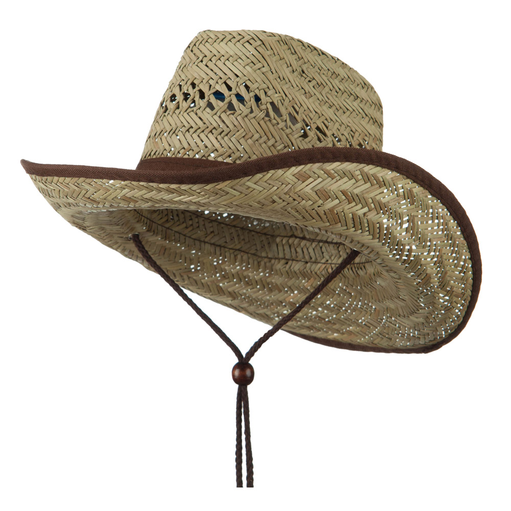 Youth Trimmed Brim Cowboy Hat - Brown - Hats and Caps Online Shop - Hip Head Gear