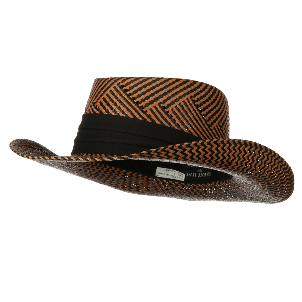 Gambler Zigzag Woven Hat - Black Mocha - Hats and Caps Online Shop - Hip Head Gear