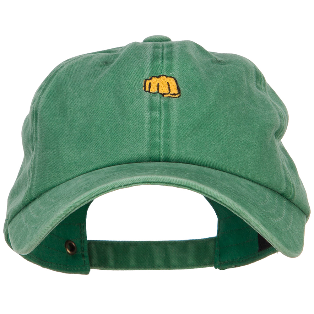 Mini Fist Pound Embroidered Unstructured Dyed Cap - Kelly Green