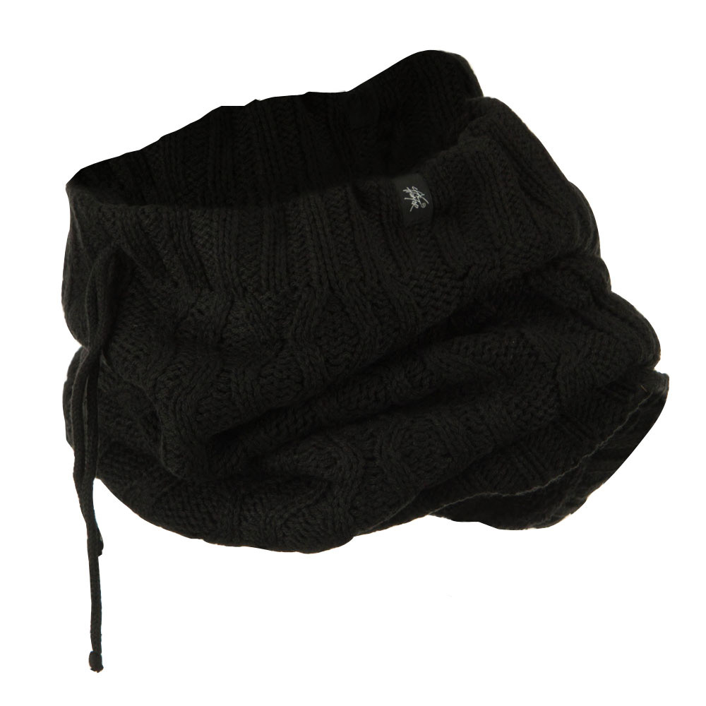 Zig Zag Neck Warmer  - Black - Hats and Caps Online Shop - Hip Head Gear