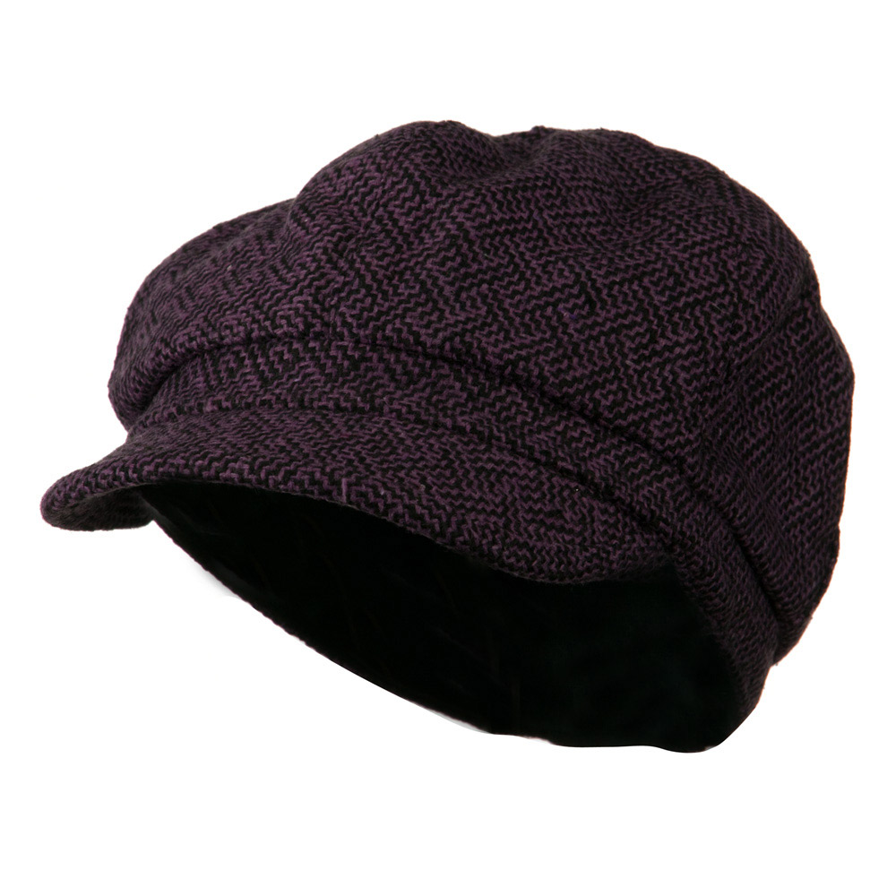 Zig Zag Tweed Newsboy Cap - Purple - Hats and Caps Online Shop - Hip Head Gear