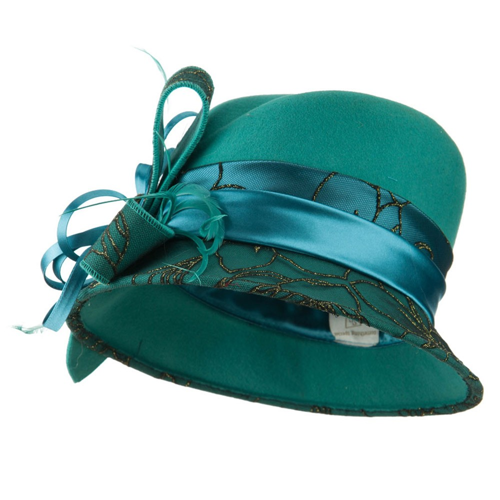 Teal Cloche Women's Hat