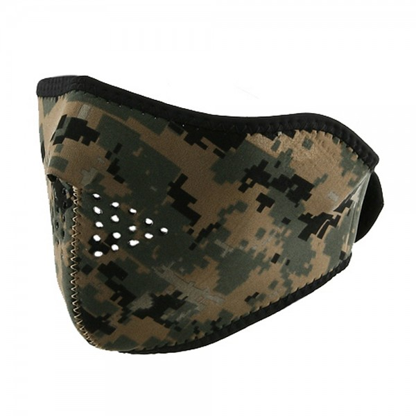 Neoprene Half Face Mask - Digital Green