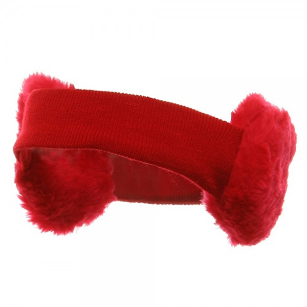 Ear Muff Headband-Red