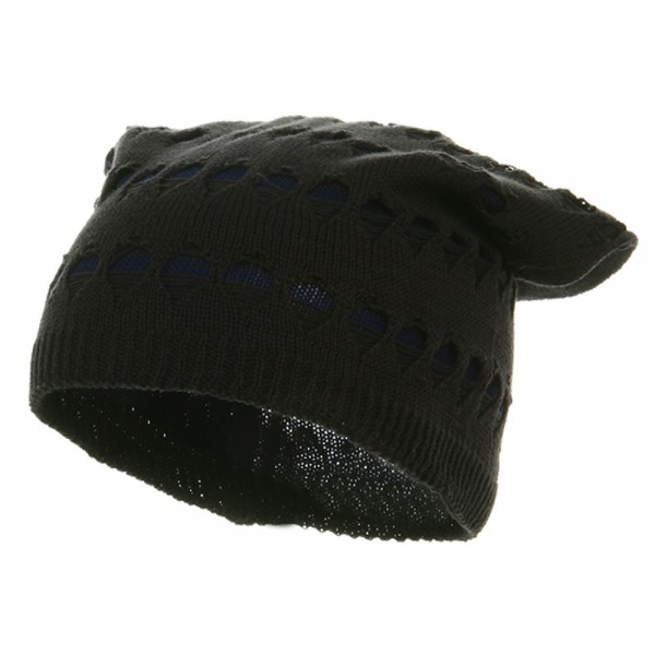 4 Holes New Vintage Beanie - Charcoal