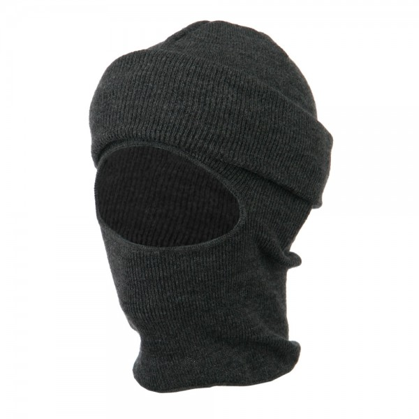 Cuff One Hole Ski Mask - Grey