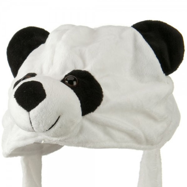 Kids Fluffy Animal Hat - Panda