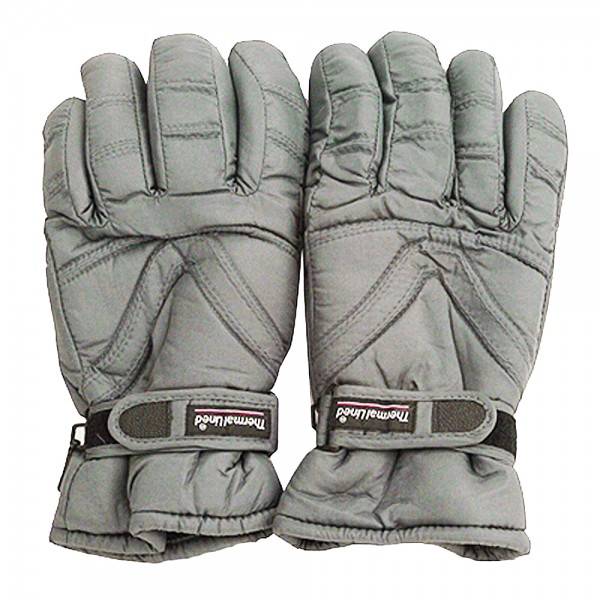 Water Repellent Polar Ski Glove-Grey
