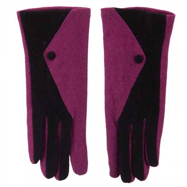 Fuchsia texting glove