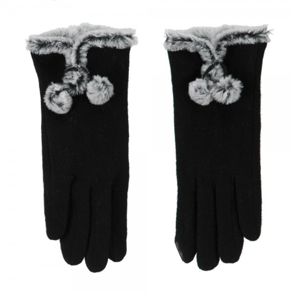 Womens black texting glove