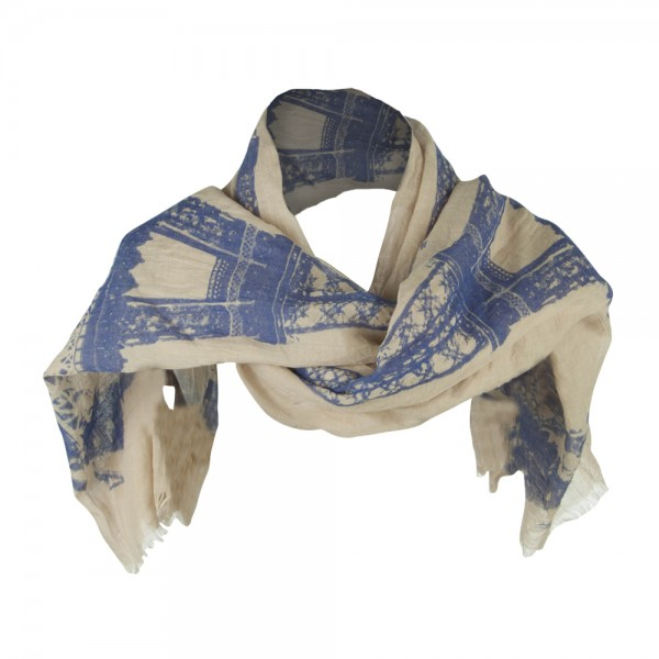 Women's Eiffel Summer Scarf - Blue