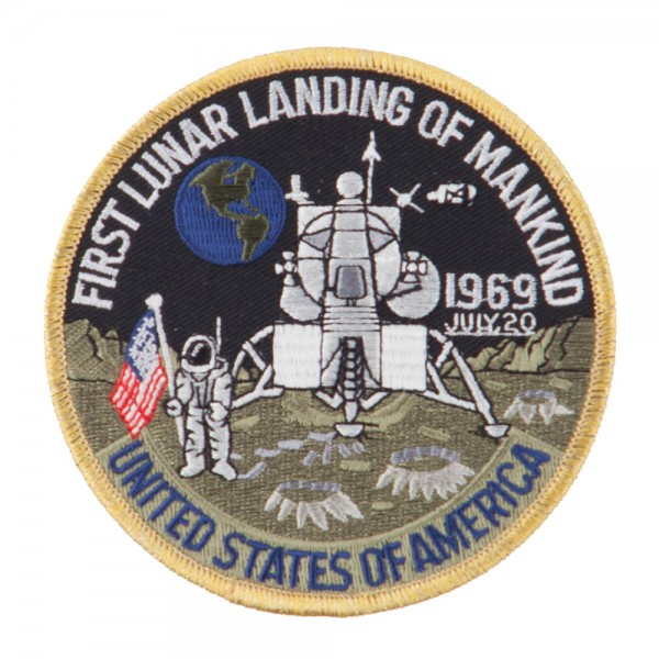 NASA and Apollo Military Patch - Black Blue