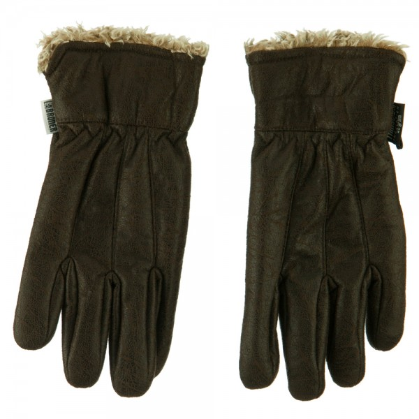 Men's Sherpa Cuff Outdoor Gloves - Brown