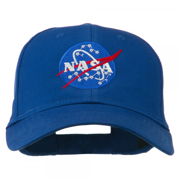 NASA Insignia Embroidered Cotton Twill Cap - Royal
