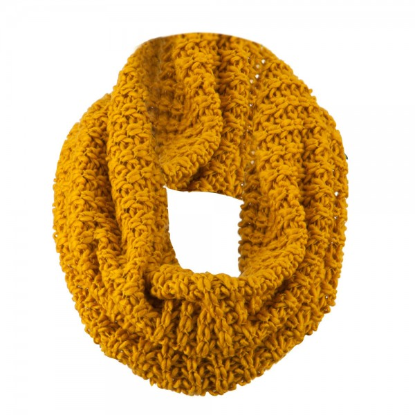 Solid Thick Ribbed Neck Warmer - Mustard