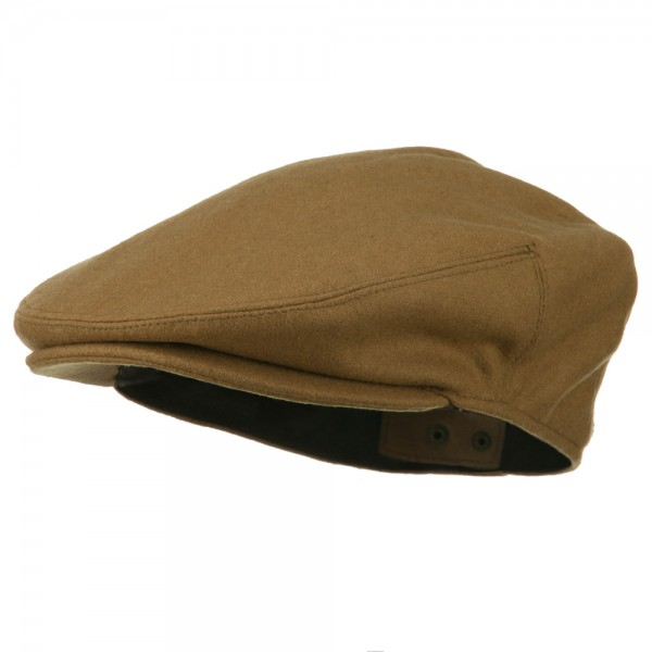 Wool Blend Ivy Cap Men's Hat - Camel