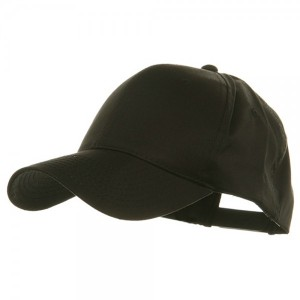 Oversized Twill Cap - Black