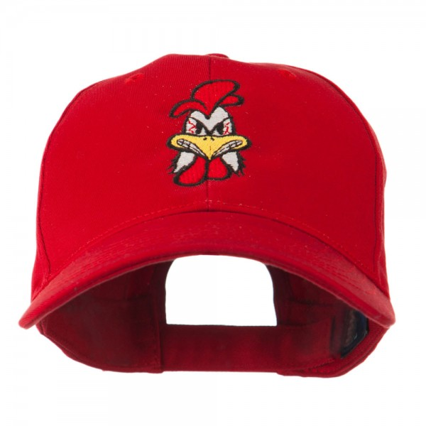Bantam Mascot Embroidered Cap - Red