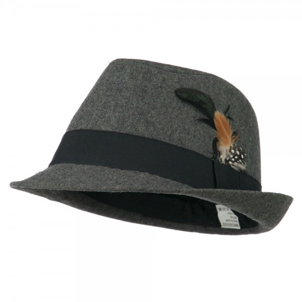 Men's Wool Blend Fedora - Grey