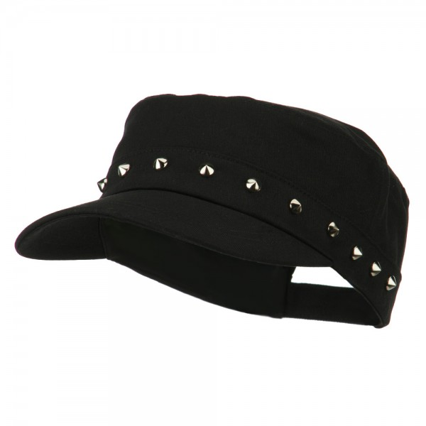 Spike Jeep Style Adjustable Cap - Black
