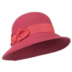 Women's Wool Felt Bucket Shape Hat - Coral
