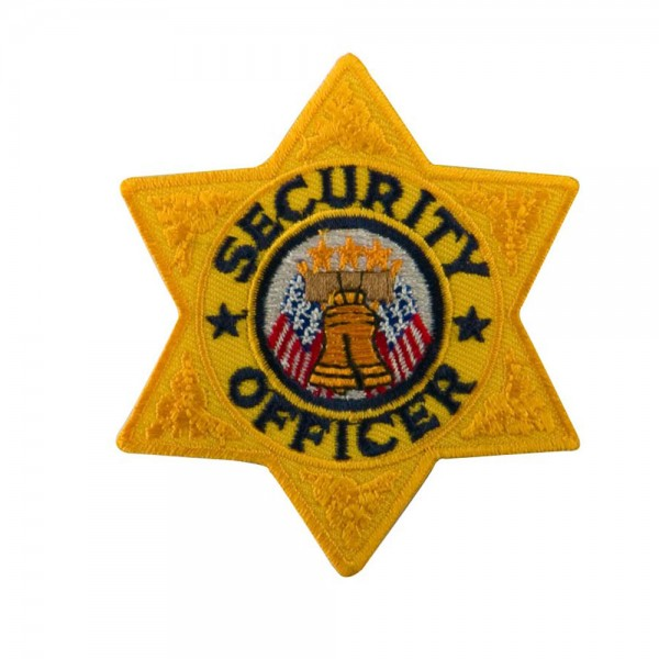 Star Security Stock Chest And Cap Emblems - Gold Security
