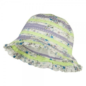 Girl's Flower Pattern Bucket Hat - White