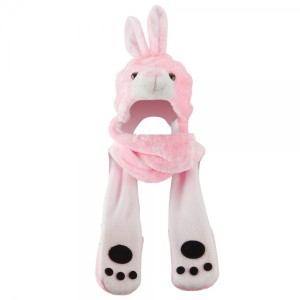 ML Animal Costume Hat with Mittens - Pink Rabbit