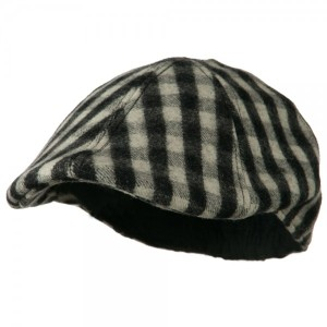 Mohair Buffalo Checker Duckbill Ivy - Black