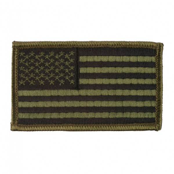 Patriotic Patches with Velcro - Flag GRN CAMO