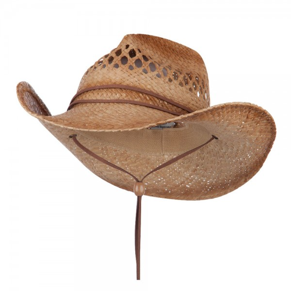 Cowboy Raffia Straw Hat - Natural