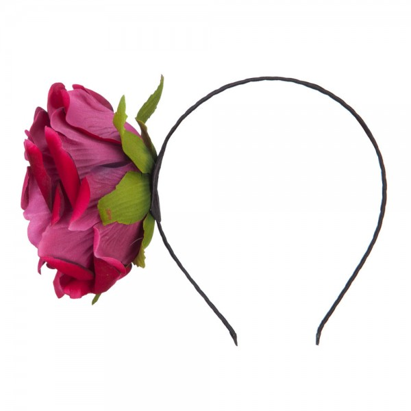 Women's Rose Headband - Red Pink