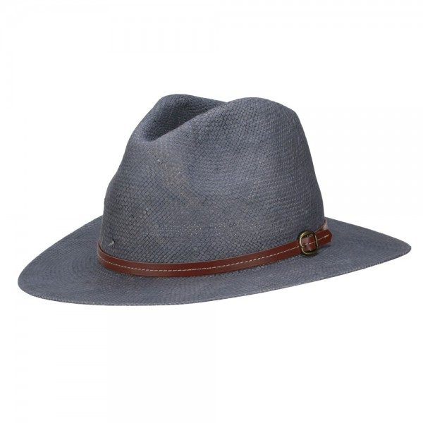 Buckle Band Safari Outdoor Hat - Grey
