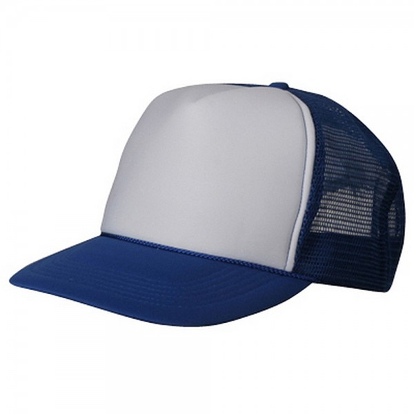 Foam Mesh Cap-Royal White