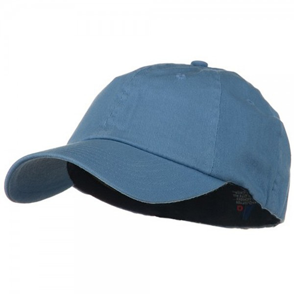 Light Brush Twill Fitted Cap - Light Blue