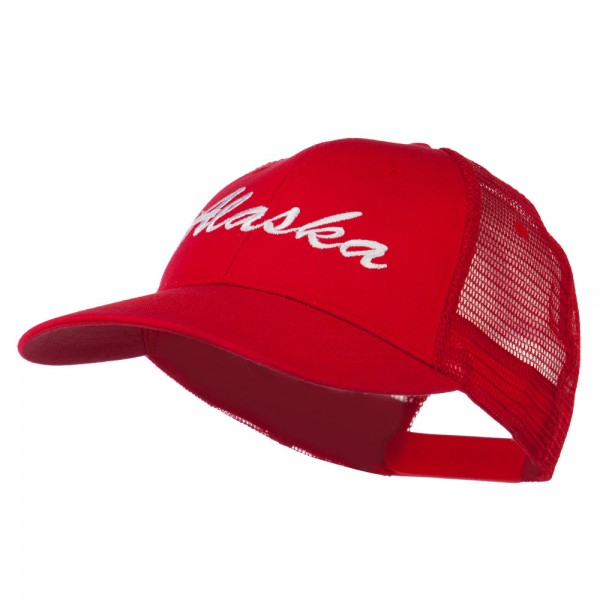 Western States Alaska Embroidered Mesh Back Cap - Red