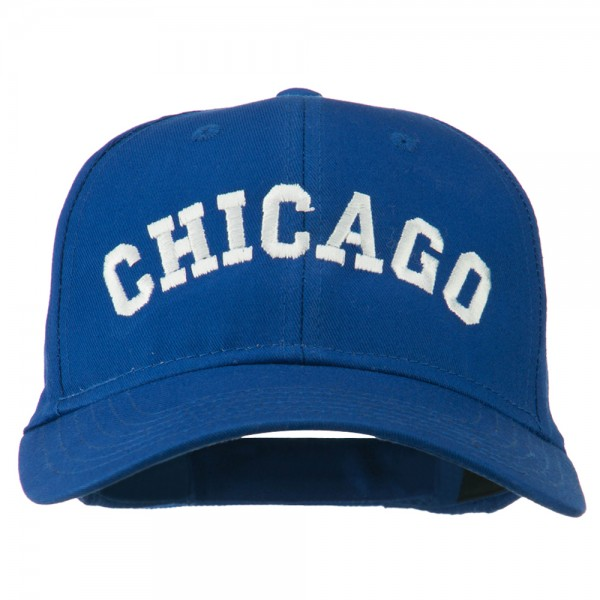 Chicago Illinois State Embroidered Cotton Cap - Royal