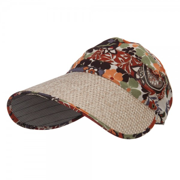Scarf Gardening Roll Up Visor - Flower
