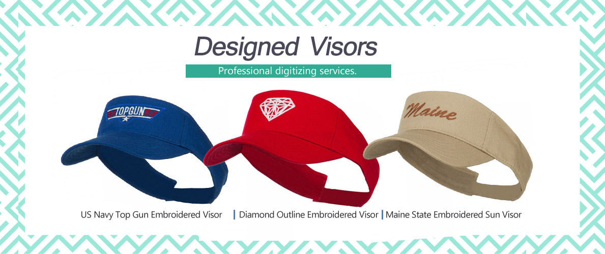 strap back visor hats