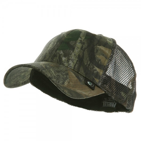 Fitted Camouflage Mesh Cap
