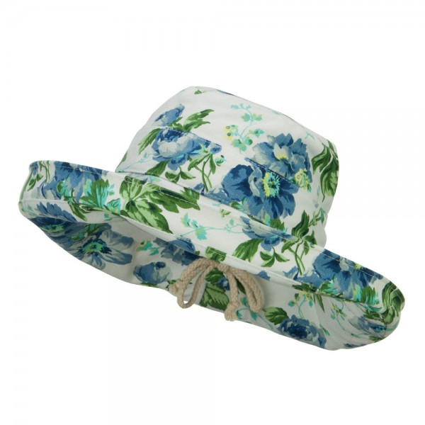 Women's Floral Canvas Roll Up Hat
