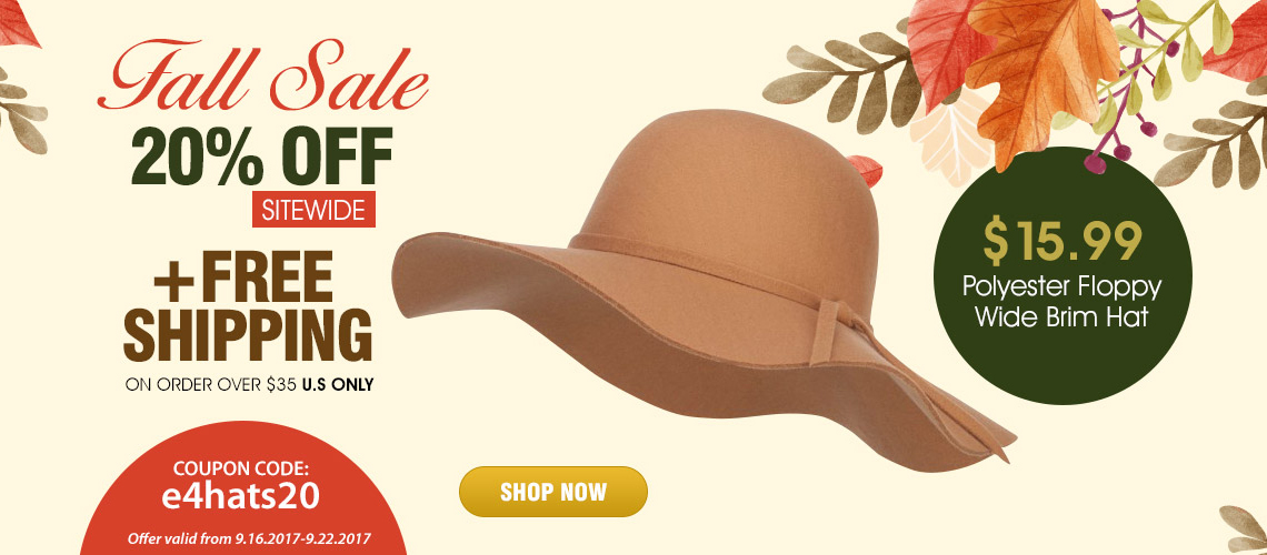 Fall Sale Hats Selection