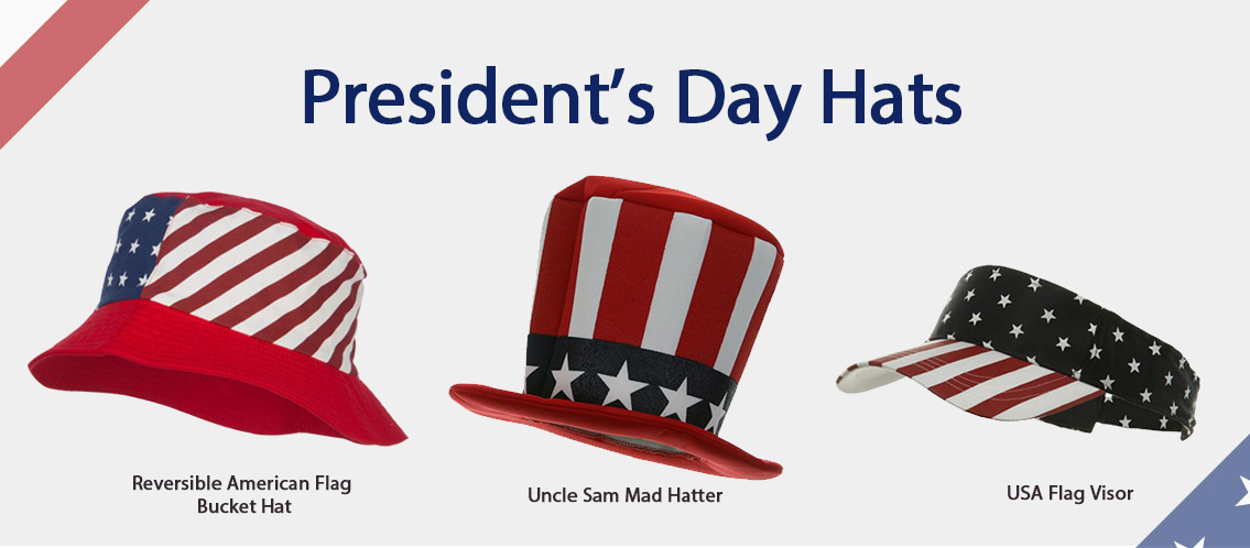 president's day hats and caps